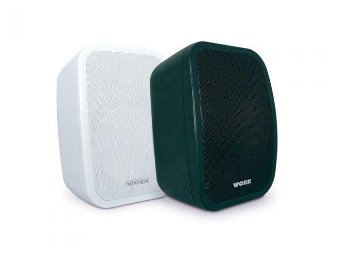"""Pair of White 5"""" 2-Way Bluetooth Loudspeakers"""
