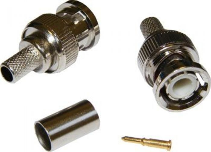 BNC CRIMP-ON CONNECTOR FOR RG59 CABLE