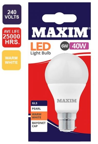 40W Warm White BC Light Bulb