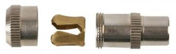 BRASS COAX PLUG NICKEL PLATED - 19100B