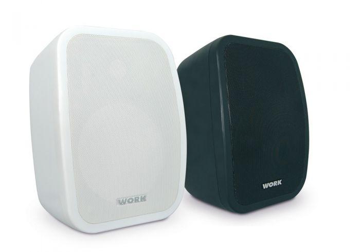 "WORK Pair of black 6.5"" full range passive loudspeakers"