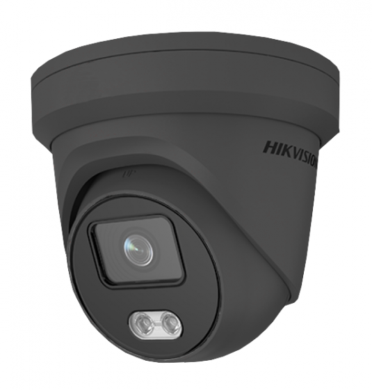 Hikvision DS-2CD2347G2-LU-2.8MM/G 4MP ColorVu AcuSense IP Network Turret 2.8mm Fixed w/Mic 12VDC/PoE - Grey