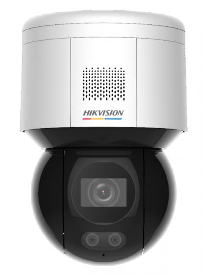 Hikvision DS-2DE3A400BW-DE(F1)(S5)(B) 4MP ColorVu Network PT Camera w/ Built-In Mic & Speaker IP55 PoE 12 VDC