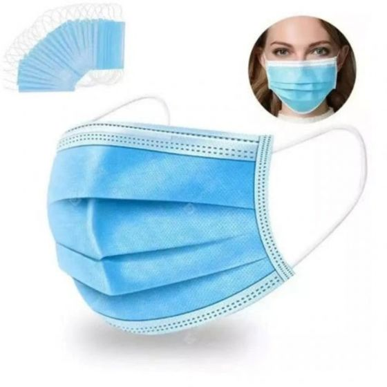 PPE Disposable 3-Ply Face Masks (50)
