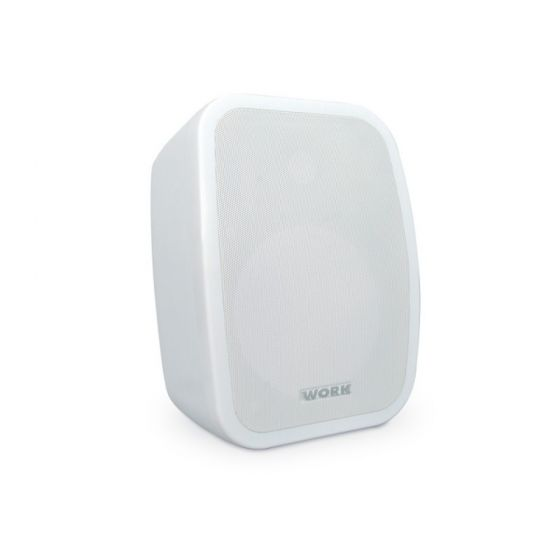 """Pair of White 5"""" 2-Way Active Loudspeakers 1"""" 2 x 25W (8 Ohm)"""