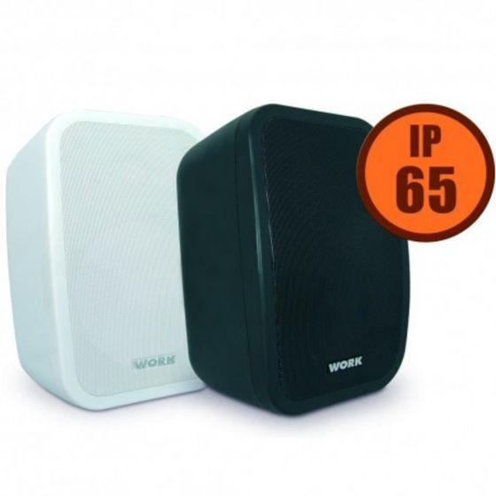 """Work pair of white 5"""" passive loudspeakers - IP65"""